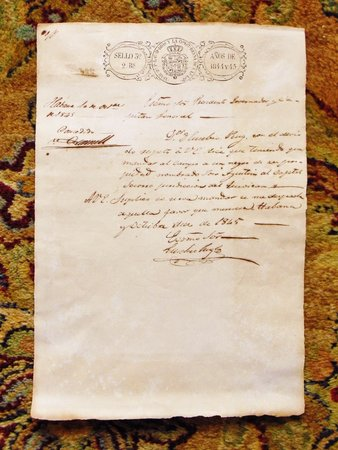1845 CUBAN DOCUMENT Granting RIGHTS to a BLACK SLAVE Signed by GENERAL O'DONNELL by General Leopold O'Donnell
