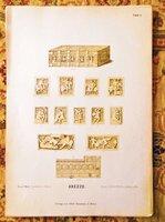 35 LARGE LITHOGRAPH PRINTS of CHRISTIAN IVORY SCULPTURE Printed in Germany 1912 / FUNDGRUBE DER KUNST UND IKONOGRAPHIE ELFENBEIN-ARBEITEN DES CHRISTLICHEN ALTERTUMS UND MITTELALTERS IN 35 TAFELN by ERNST AUSM WEERTH