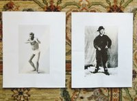 TWO PHOTOGRAPHS of JACK LONDON - 1 Boxing in Underwear - For FILM of MARTIN EDEN by Jack London
