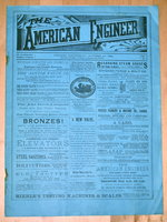 The AMERICAN ENGINEER: An Illustrated Weekly Journal. October 30, 1889 [1 Issue in Original Wraps] Rare VICTORIAN ANTIQUE Engineering Technology by John Weston [Editor]