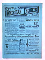 The AMERICAN ENGINEER: An Illustrated Weekly Journal. September 20, 1890 [1 Issue in Original Wraps] Rare VICTORIAN ANTIQUE Engineering Technology by John Weston [Editor]