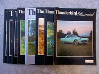 8 Issues THUNDERBIRD ILLUSTRATED Magazine 1974-1976 Full of Great Early T-Birds