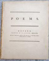 1768 POEMS by FRANCIS NOEL CLARKE MUNDY Printed by W. Jackson, OXFORD by FRANCIS NOEL CLARKE MUNDY