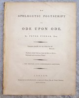 1788 APOLOGETIC POSTSCRIPT to ODE UPON ODE by PETER PINDAR (John Wolcot) by PETER PINDAR (John Wolcot)
