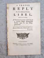 1743 REPLY to an INFAMOUS and SCURRILOUS LIBEL by William Pulteney
