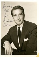 RICHARD CONTE HAND SIGNED & INSCRIBED Vintage 5x7 PHOTOGRAPH by Richard Conte
