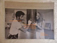 1970 AP Wirephoto of ONLY FEMALE PRIZE FIGHT MANAGER IN CALIFORNIA with BOXER by GRACE LUNDEEN, QUINCEY DANIELS