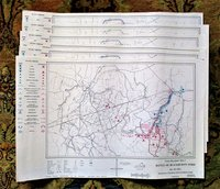 BATTLE OF FIRST MANASSAS & BLACKBURN'S FORD 1861 - SIX TROOP MOVEMENT MAPS 1981
