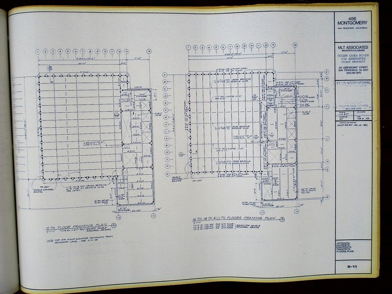 Bound set complete blueprints of 456 montgomery street san bound set complete blueprints of 456 montgomery street san francisco architecture 1983 malvernweather Image collections