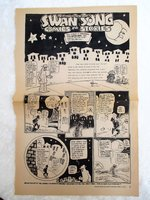 1977 DAN O'NEILL'S SWAN SONG and APOLOGY to HERB CAEN Comic Strip ODD BODKINS by DAN O'NEILL