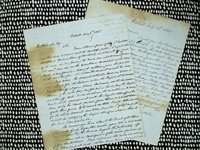 1845 TWO HANDWRITTEN LETTERS To THOMAS W. LANGLEY, First Settler in CENTREVILLE, MICHIGAN
