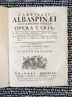 1770 Gabriel de L'Aubespine EPISCOPI OPERA VARIA Catholic Church Rites, Rituals, Eucharist by Gabriel de L'Aubespine
