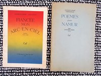 JACQUES ANDRE SAINTONGE Two SIGNED and INSCRIBED Chapbooks BELGIAN POET 1949 by JACQUES ANDRE SAINTONGE