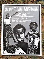 1979 CELEBRATE BLACK WOMANHOOD Laney College POSTER by INKWORKS PRESS Berkeley