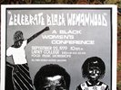 Another image of 1979 CELEBRATE BLACK WOMANHOOD Laney College POSTER by INKWORKS PRESS Berkeley