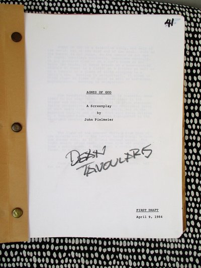 AGNES OF GOD Original SCREENPLAY First Draft SIGNED BY FAMOUS FILM SET DESIGNER Dean Tavoularis by John Pielmeier