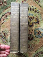 1924 COMPLETE CATALOGUE THE LIBRARY OF JOHN QUINN in TWO VOLUMES First Edition by John Quinn