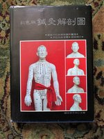 Chinese ACUPUNCTURE BOOK w/ 87 Pages of COLOR PLATES + in text ILLUSTRATIONS