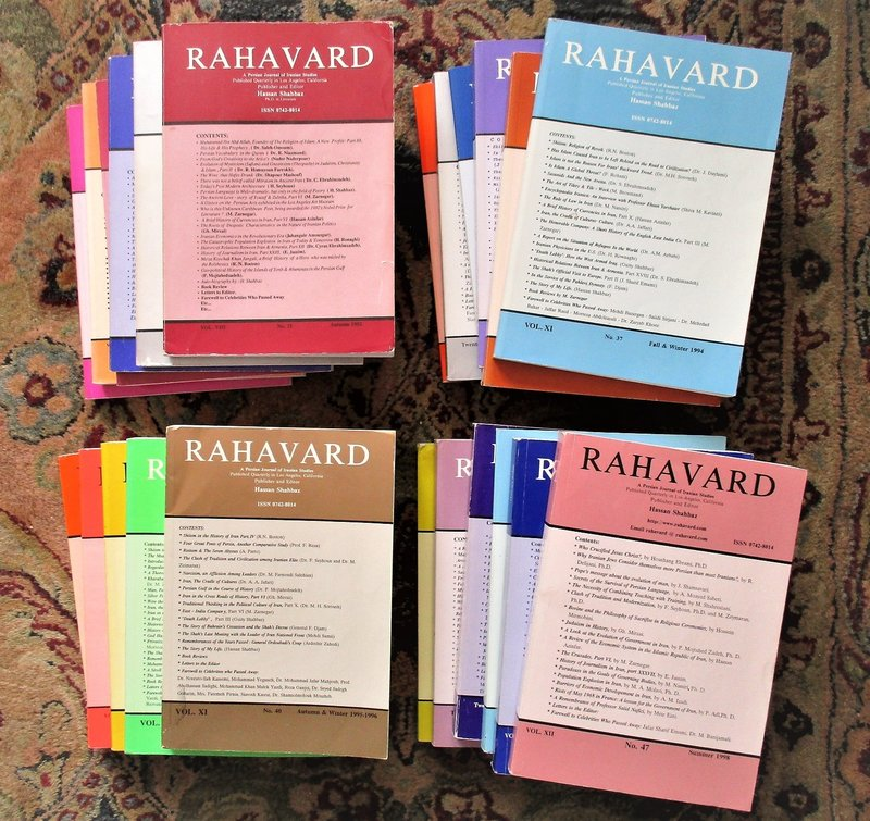 23 ISSUES of RAHAVARD : PERSIAN JOURNAL of IRANIAN STUDIES 1992-2002