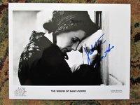 JULIETTE BINOCHE **HAND SIGNED** THE WIDOW OF SAINT-PIERRE PHOTO / FILM STILL by Juliette Binoche