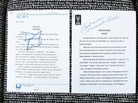 2 SIGNED PRESS RELEASES - DAVID KEITH in FIRESTARTER & MERCEDES RUEHL in THE FISHER KING