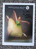 LAUREN FADELEY BALLERINA **HAND SIGNED PHOTOGRAPH** Principal DANCER Pennsylvania Ballet & MIAMI BALLET