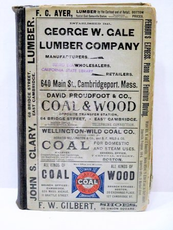 1899 Original SOMERVILLE, MASSACHUSETTS, CITY DIRECTORY w/ Every RESIDENT & BUSINESS