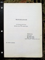 1970s UNPRODUCED ISRAELI SCREENPLAY by MENAHEM GOLAN Copy of Agent PAUL KOHNER by MENAHEM GOLAN and Joseph Gross