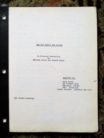1970s UNPRODUCED ISRAELI SCREENPLAY by MENAHEM GOLAN Copy of Agent PAUL KOHNER by MENAHEM GOLAN and Joseph Gross