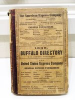 1858 Original BUFFALO, NEW YORK, CITY DIRECTORY with EVERY RESIDENT & BUSINESS + Cool Ads