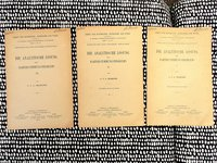 1911 Astronomy SOLUTION TO THE PATH DETERMINATION PROBLEM / DIE ANALYTISCHE LÖSUNG DES BAHNBESTIMMUNGPROBLEMS - 3 Booklets in German by Carl Vilhelm Ludvig Charlier