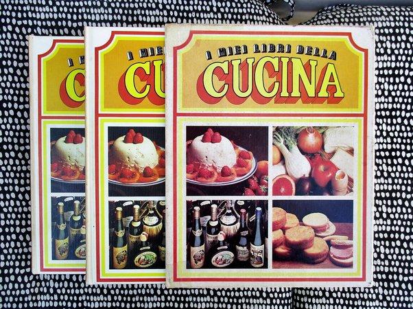 I MIEI LIBRI DELLA CUCINA 2 Volume Set in Slipcase ITALIAN COOKBOOKS w/ 443 Recipes ILLUSTRATED Yummy
