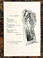"""MARIANNE MOORE BROADSIDE POEM """"W. S. LANDOR"""" Adams & Lowell House Printers #91 of 135 Harvard Yard 1965 by Marianne Moore"""