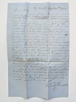 1859 JOHN HORTON SLAUGHTER Important HANDWRITTEN LETTER Civil War TEXAS Sam Houston by TEXAS JOHN SLAUGHTER, JOHN HORTON SLAUGHTER, SHERIFF SLAUGHTER
