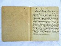 1902 FRANKFORT KENTUCKY HANDWRITTEN WILL & DESCRIPTION OF PROPERTY of JOHN B. LINDSEY to WIFE + 8 CHILDREN by John B. Lindsey