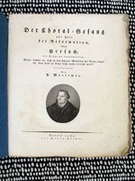 1821 SACRED MUSIC of the REFORMATION Scarce Musicology with 163 CHURCH CHORALES by Georg Reimer