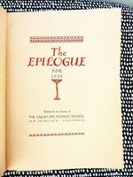 1935 SARAH DIX HAMLIN SCHOOL San Francisco YEARBOOK The Epilogue ILLUSTRATED