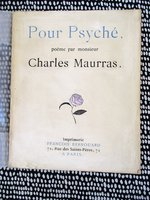 POUR PSYCHE Poetry by CHARLES MAURRAS French Alt-Right Anti-Semite Fascist 1/550 by Charles Maurras