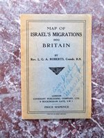 1930 MAP of ISRAEL'S MIGRATIONS INTO BRITAIN by L. G. A. Roberts, Comdr. R.N.