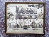 1929 BURLINGAME, California, PERSHING GRAMMAR SCHOOL Kindergarten Class FRAMED PHOTOGRAPH Cute Kindergartners