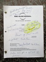 ANNOTATED DRAFT TV SCRIPT for ALIBI by PETER BLAKE & DAVID SHORE the Producers and Writers of HOUSE by Peter Blake and David Shore