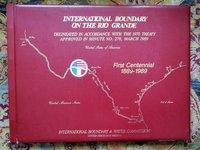 111 LARGE MAPS of the RIO GRANDE INTERNATIONAL BOUNDARY with MEXICO per the 1970 TREATY Scarce Atlas