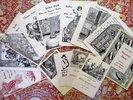 Another image of 13 SUTTER CLUB Sacramento DINNER DANCE INVITATIONS w/ ART by DR. CHARLES E. VON GELDERN 1953-1959 by Sutter Club