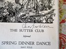 Another image of 13 SUTTER CLUB Sacramento DINNER DANCE INVITATIONS w/ ART by DR. CHARLES E. VON GELDERN 1953-1959 by Sutter Club