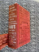 1903 BOSTON CITY DIRECTORY SUPPLEMENT & BUSINESS DIRECTORY with Record of DEATHS