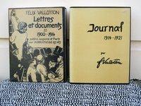 FELIX VALLOTTON Two Volumes JOURNAL 1914-1921 and LETTRES ET DOCUMENTS 1900-1914 by FÉLIX VALLOTTON, Gilbert Guisan, Doris Jakubec