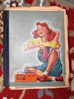1946-1950 Scrapbook CARMEL-BY-THE-SEA, California, HIGH SCHOOL GIRL + Her School LETTERMAN VEST by MARLENE LIU BERAR