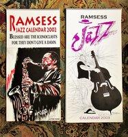 RAMSESS - BLACK LEIMERT PARK LOS ANGELES ARTIST - Collection of 11 JAZZ ART CALENDARS, 6 SIGNED 2002-2012 by Kisasi RAMSESS