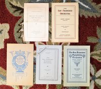 1911-1913 PROGRAMS of the FIRST 3 SEASONS of SAN FRANCISCO SYMPHONY ORCHESTRA