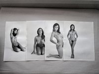 "18 Original Vintage NUDE FEMALE PHOTOGRAPHS 11x14"" with Photographer's Info & Date 1969 on Backsides"